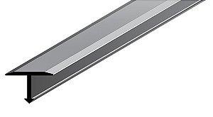 Perfil Transitório em Alumínio de espessura de 14 mm com acabamento natural.