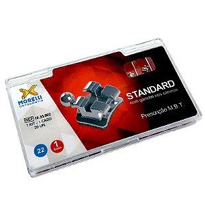 """Kit de Bráquetes Prescrição MBT Standard .022"""" - Gancho Can. Morelli"""
