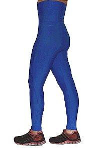 Calça Legging Cintura Alta Modeladora Sem Pezinho Azul Royal