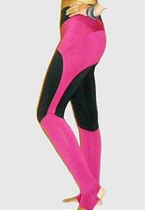 c463511969 Legging Bicolor Preto com Rosa   Tapa Bumbum e Pezinho