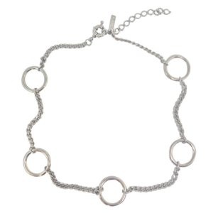 Choker Hoops on Chain níquel