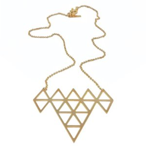 Colar Triângulos dourado
