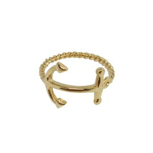 Anel Âncora dourado