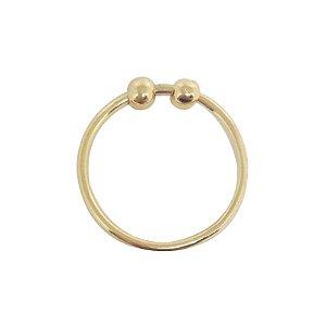 Anel Piercing dourado