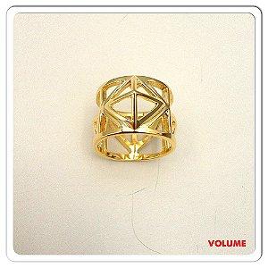 Anel Pirâmide dourado