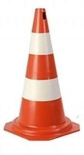 Cone PVC Rigido 75cm  Laranja/Branco : Telbras