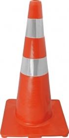 Cone Flexivel ABNT NBR15071 75cm C/ Refletivo Laranja/Branco : Telbras
