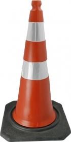 Cone PVC Flexivel Leve 75cm C/ Refletivo Laranja/Branco : Telbras