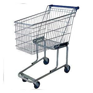 Carrinho Supermercado 90Lt  Cinza : Uni-Car