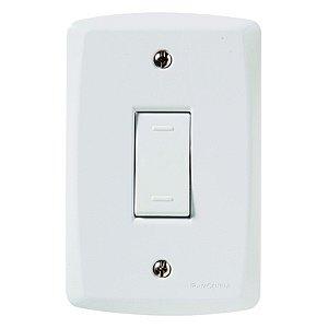 Conjunto 1 Interruptor Paralelo 10A  Branco : Tramontina
