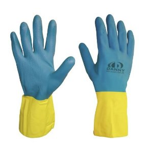 Luva Neolatex Latex/Neoprene  Azul/Amarelo : Danny