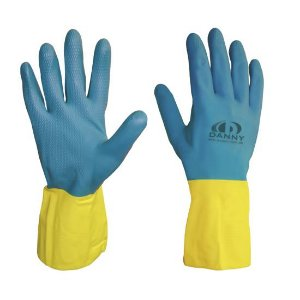 Luva Neolatex Latex/Neoprene  Azul/Amarelo : Danny (127)