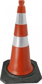 Cone PVC Flexivel Leve 75cm C/ Refletivo Laranja/Branco : Telbras (404)