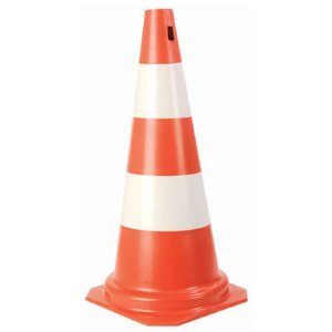 Cone PVC Rigido 50cm  Laranja/Banco : Plastcor (3340)