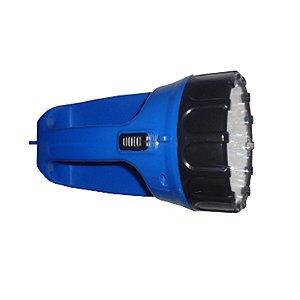 Lanterna 15 LED Rec. Bivolt   Azul : Classic (3945)