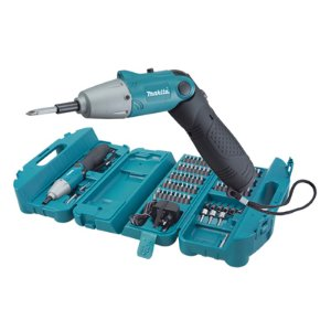 Parafusadeira Angular + Kit 80 Pcs Bateria 4,8V 110V Verde : Makita (4283)