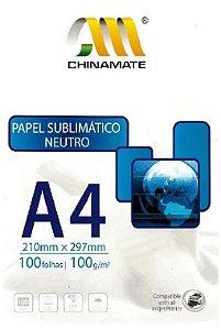 Papel Sublimático A4 100g - Pacote com 100 folhas