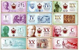 Cédulas Fantasia do Império Romano - 13 Belas Notas