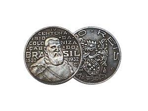 Moeda 2000 Réis 1932 4° Centenário da Colonização Brasil - RÉPLICA