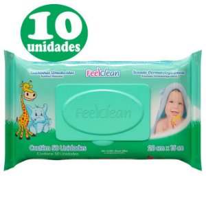 10 Pacotes Feelclean Baby com 50 unidades