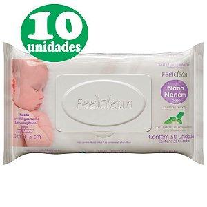 10 Pacotes Feelclean Nana Neném com 50 unidades