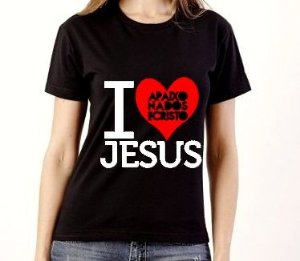 BABY LOOK I LOVE JESUS PRETA