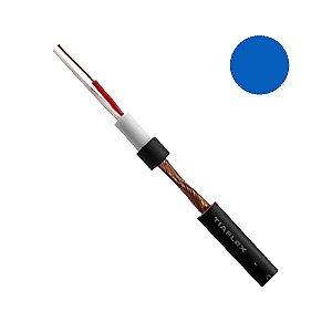 Cabo Microfone Balanceado Sonorização AF(E) 2 x 0,20mm - Azul rolo com 100 metros