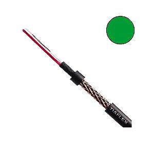 Cabo Microfone Balanceado Noiselless AF(T) 2 x 22 AWG (2x0,30mm2) - Verde rolo com 100 metros