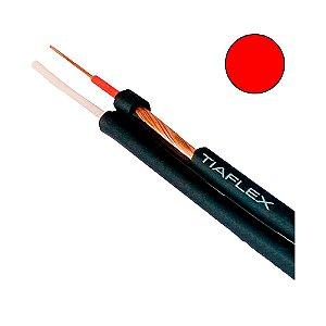 Cabo de Áudio Estéreo Philips 2 x 0,20mm 2 -Vermelho - rolo com 100 mts