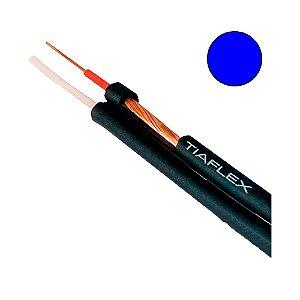 Cabo de Áudio Estéreo Philips 2 x 0,20mm 2 - Azul - rolo com 100 mts