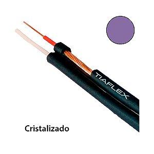 Cabo de Áudio Estéreo Philips 2 x 0,50mm 2 - Violeta - rolo com 100 mts