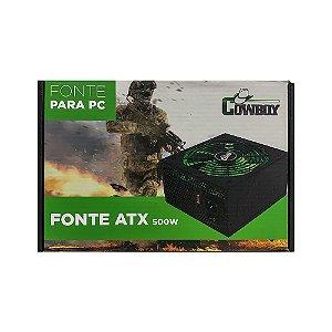 Fonte Pc Gamer Atx 500 Watts Potente Cowboy