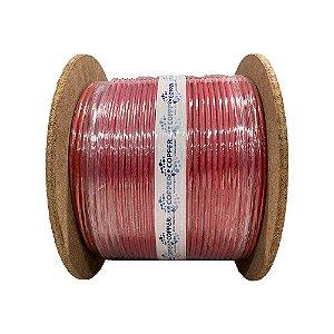 Cabo Lan giga Cat6 cmx 4p x 23awg bobina 305 m vermelho Copperlan