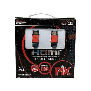 Cabo HDMI Plus 2.0 4K HDR 19P 10M Com Filtro