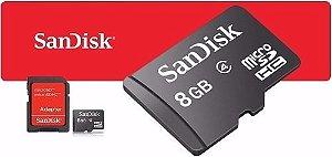 Kit 10 Cartão De Memória Micro Sd 8gb Sandisk Lacrado Original