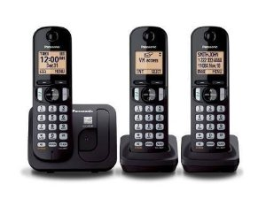 Telefone S/ Fio Panasonic Kx-tgc213 Base+2 Ramais Lançamento