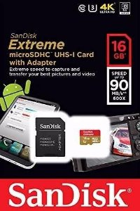 Cartão Micro Sd 16gb Sandisk Extreme 4k Classe 10 90mb 600x