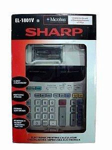 Calculadora De Mesa Sharp El-1801v - Com Bobina - Original O