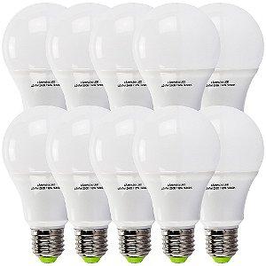 Lâmpadas Led Bulbo 12w E27 6500k Bivolt Branco Frio Kit Com 10 Lampadas