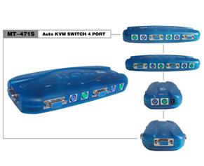 Chaveador Kvm Ps2 Vga 4 Portas Plast Com Cabos