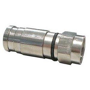 Conector Coaxial Rg6 Para Antena Compressão