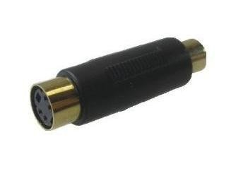 Adaptador Jack Mini Din 4p X Plug Rca Dourado