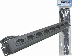 Calha Para Rack 20 A 8 Tomadas -  Duallux