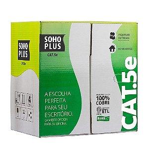 Cabo De Rede Cat5 Furukawa Cx Com 305 Metros Cinza
