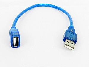 Cabo extensor USB 2.0 macho x femea 30cm blindado