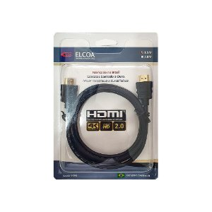Cabo Hdmi 2.0 4K ouro Full Hd 1.50 Metros Elcoa