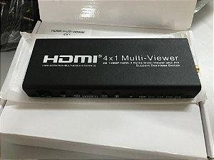 Switch HDMI 4x1 função pip monitore 4 imagens diferentes num só tv