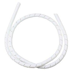 Organizador de cabos 6,4mm branco 3 metros