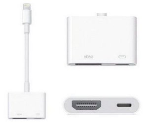 Adaptador iphone 5,6,7 Lightning para HDMI - imagem do seu iphone na tv hdmi