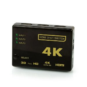 Switch hdmi 3x1 com controle 4k